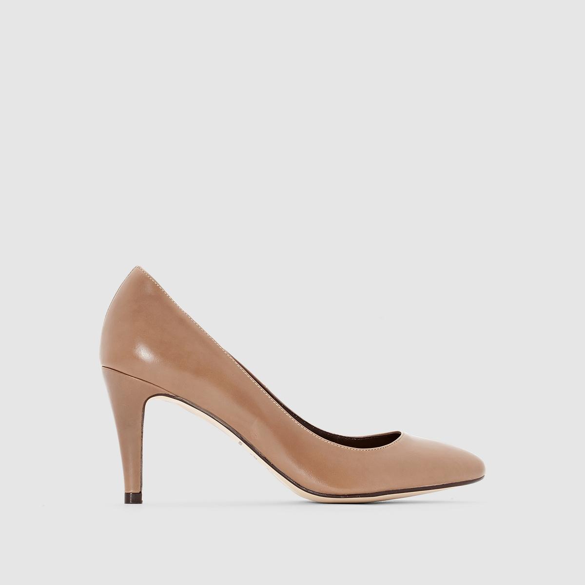 Туфли на каблуке 11395Материал внешний/внутрений : Коровья кожа    Подкладка : Кожа   Подошва: эластомер   Высота каблука: 8 смФорма каблука : Тонкий каблук   Носок : Острый мысок   Застежка: без застежки<br><br>Цвет: серо-коричневый