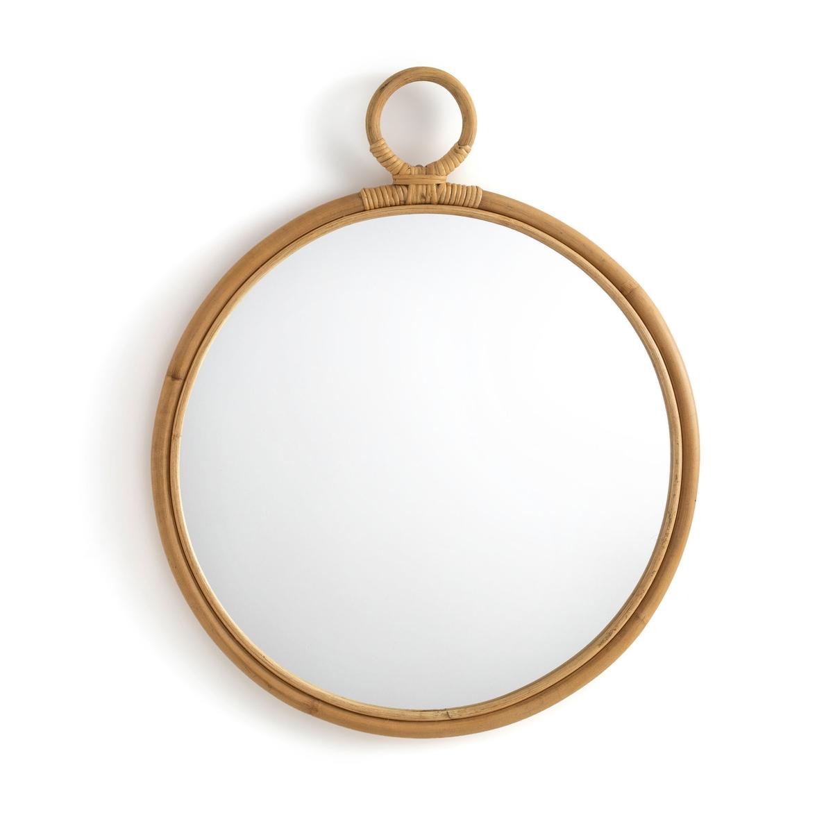 Зеркало La Redoute Круглое из ротанга Nogu единый размер бежевый зеркало la redoute из ротанга в форме ромашки см nogu единый размер бежевый