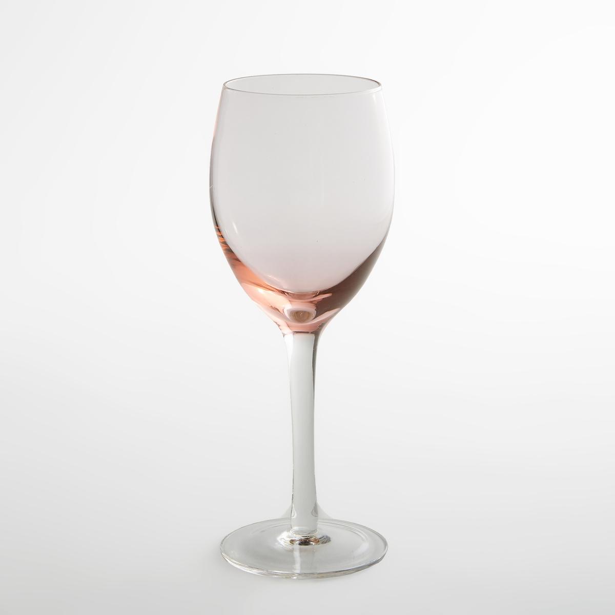 4 бокала для винаХарактеристики 4 бокалов :- Бокалы для вина из прозрачного стекла с розовым затемнением снизу  Подходят для использования в посудомоечной машинеПродаются комплектом из 4 шт Размеры :Диаметр : 6,6 смВысота : 20 см<br><br>Цвет: дымчато-розовый
