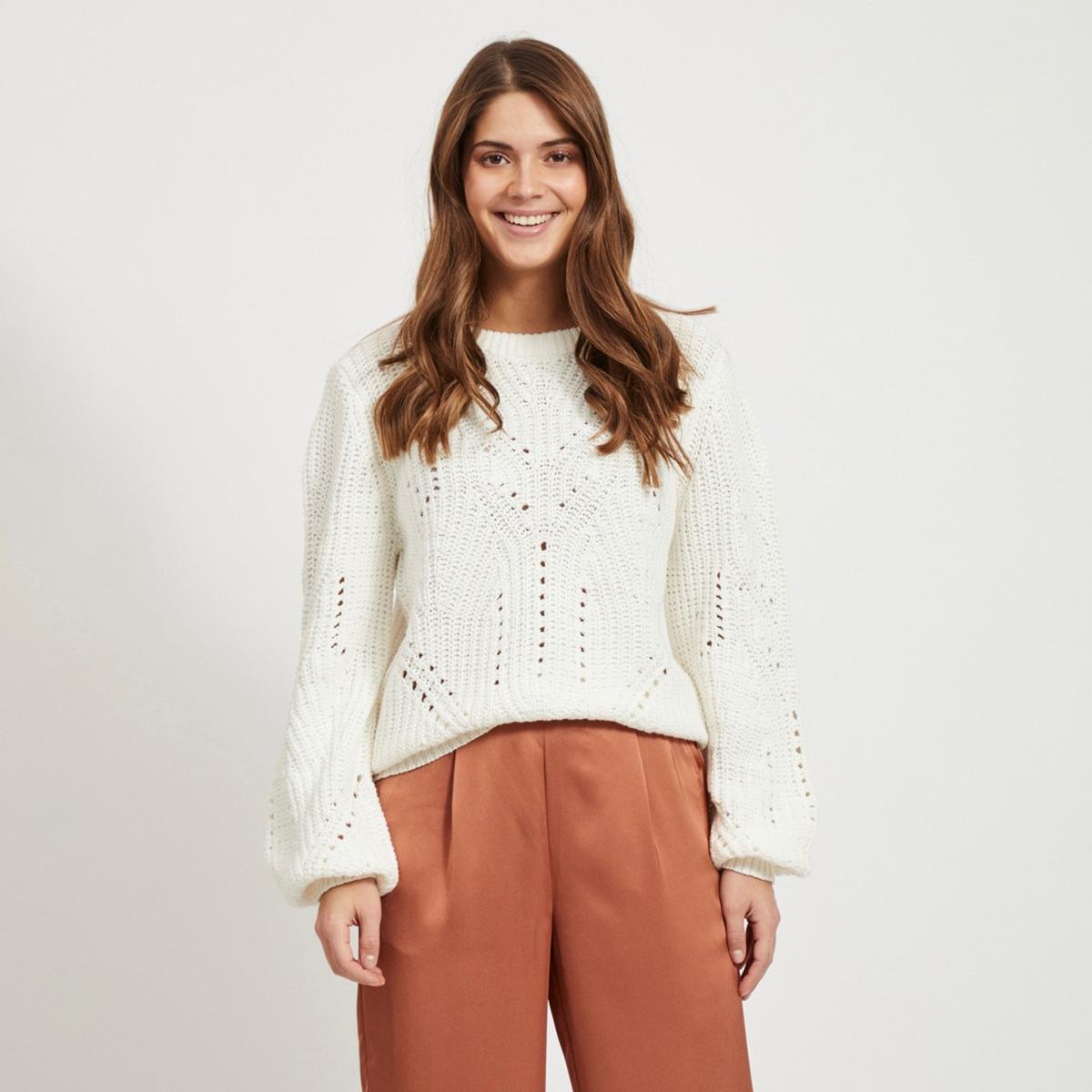 Пуловер La Redoute С круглым вырезом из плотного трикотажа XS белый пуловер la redoute с круглым вырезом из плотного трикотажа 3xl синий