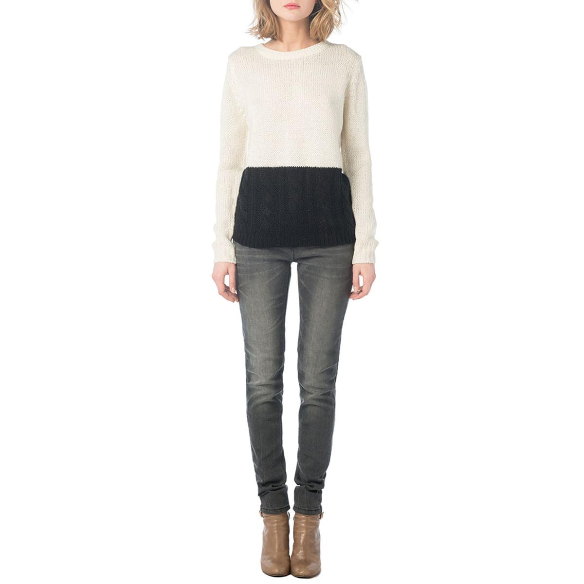 Пуловер двухцветный