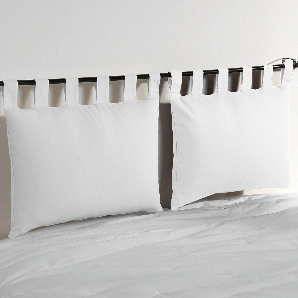 Фото - Набор LaRedoute Из 2 чехлов для подушки изголовья кровати из хлопка Scenario 50 x 70 см белый покрывало laredoute стеганое из 100 хлопка scenario 230 x 250 см белый