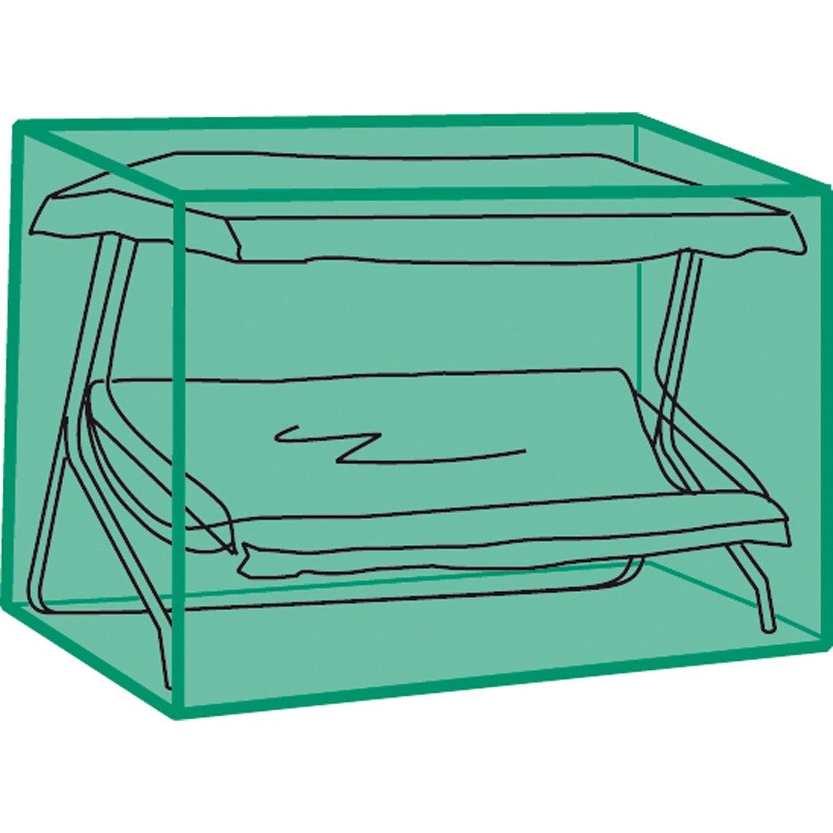 Чехол для садовой мебелиЭтот сверхпрочный чехол служит для защиты садовой мебели и качелей от пыли и неблагоприятных погодных условий. Отличается практичностью и легкостью складывания (специально разработанная система складывания чехла). Высокое качество материала, герметичность, неподверженность гниению. Описание чехла :- Выполнен из спаянного полиэтилена.- Нержавеющие люверсы.- Система быстрого складывания.- Цвет зеленый полупрозрачный.Подходит для использования с любыми моделями садовых качелей .<br><br>Цвет: зеленый