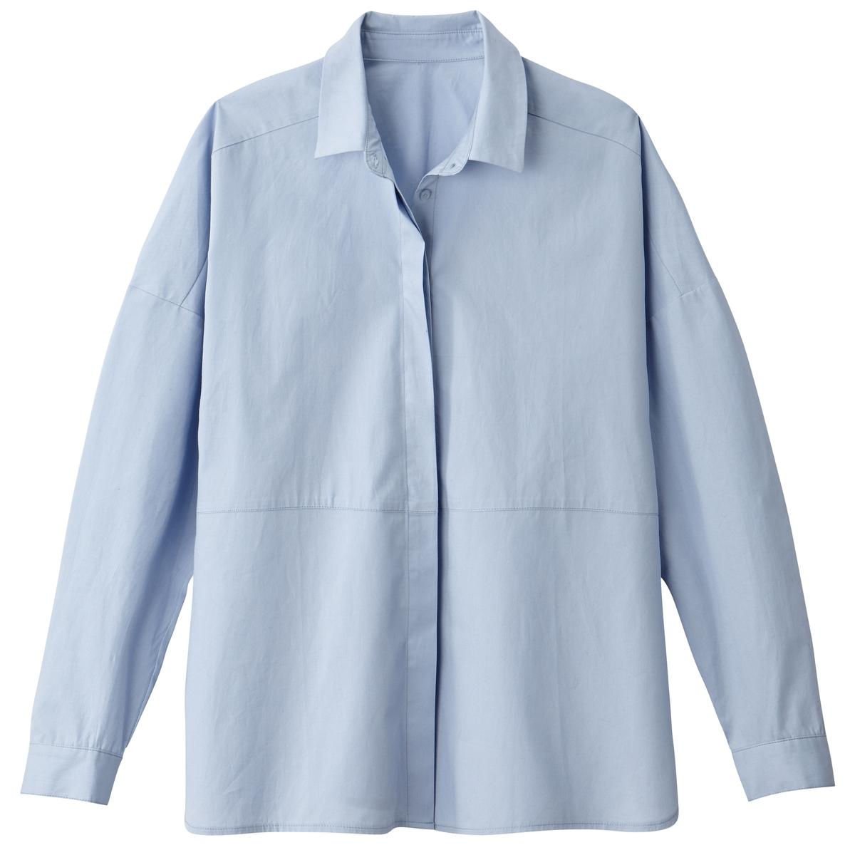 Рубашка из поплинаОписание •  Длинные рукава  •  Прямой покрой  •  Воротник-поло, рубашечный  •  Уголки воротника на пуговицах Состав и уход •  100% хлопок  •  Машинная стирка при 30 °С   •  Сухая чистка и отбеливание запрещены    •  Не использовать барабанную сушку   •  Низкая температура глажки<br><br>Цвет: белый,небесно-голубой<br>Размер: 50 (FR) - 56 (RUS)