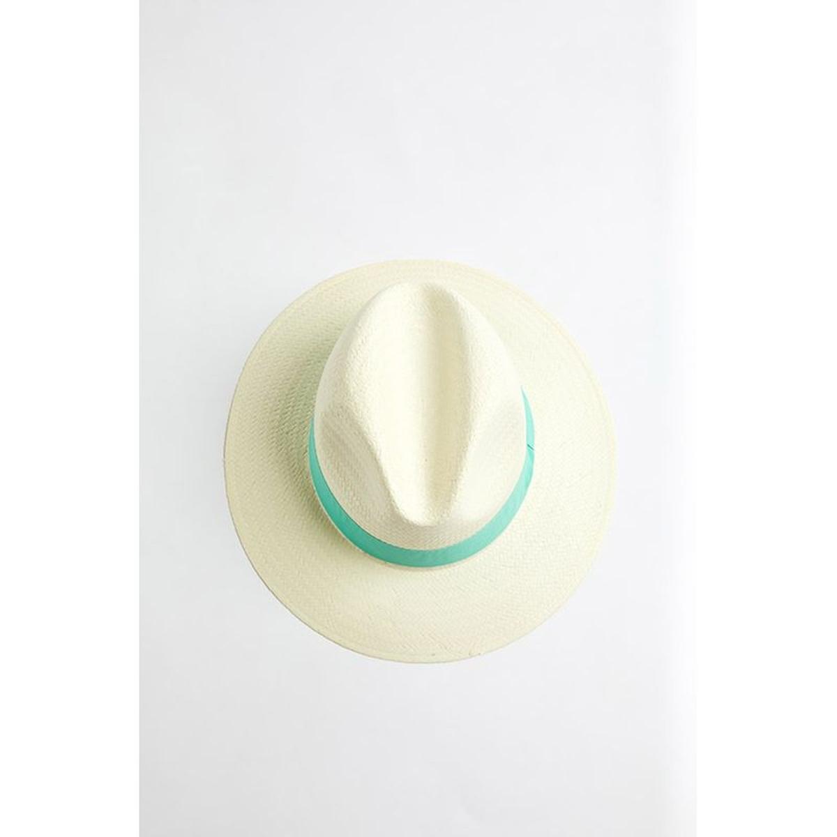 Chapeau de plage Panama Menthe