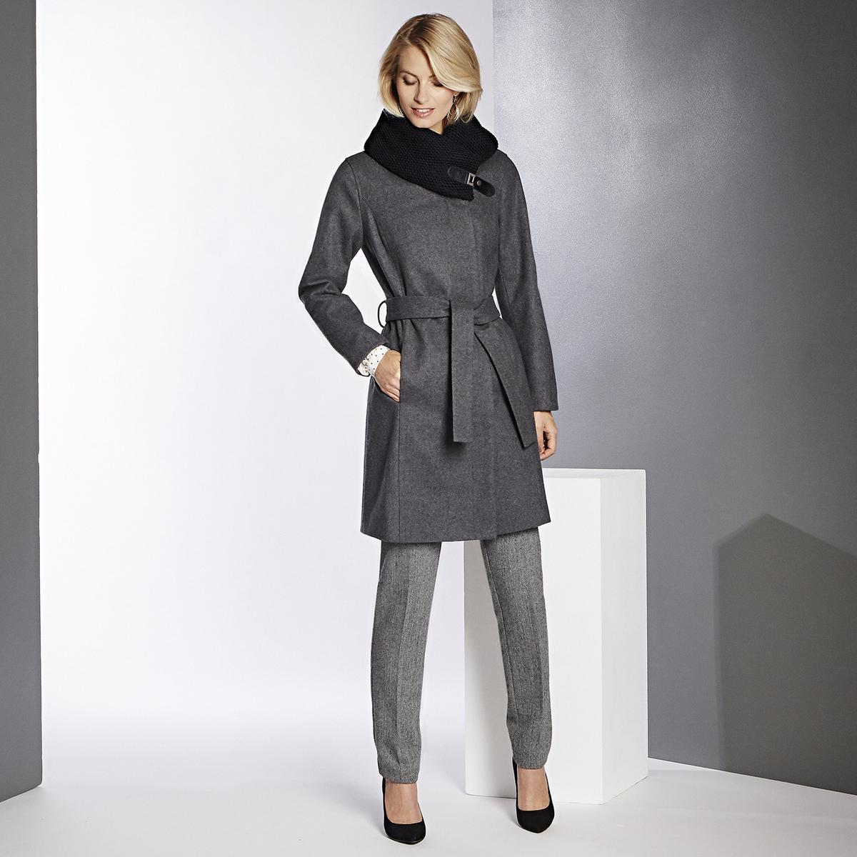 Imagen principal de producto de Abrigo con cinturón de lana mezclada - Anne weyburn
