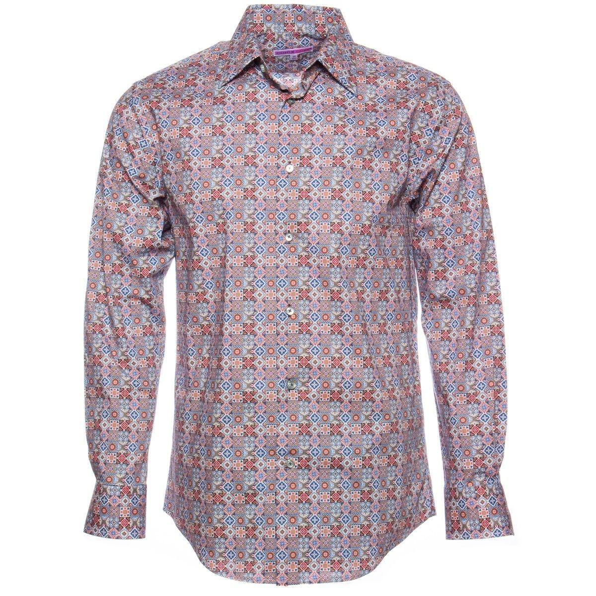 Chemise azulejos ajustée