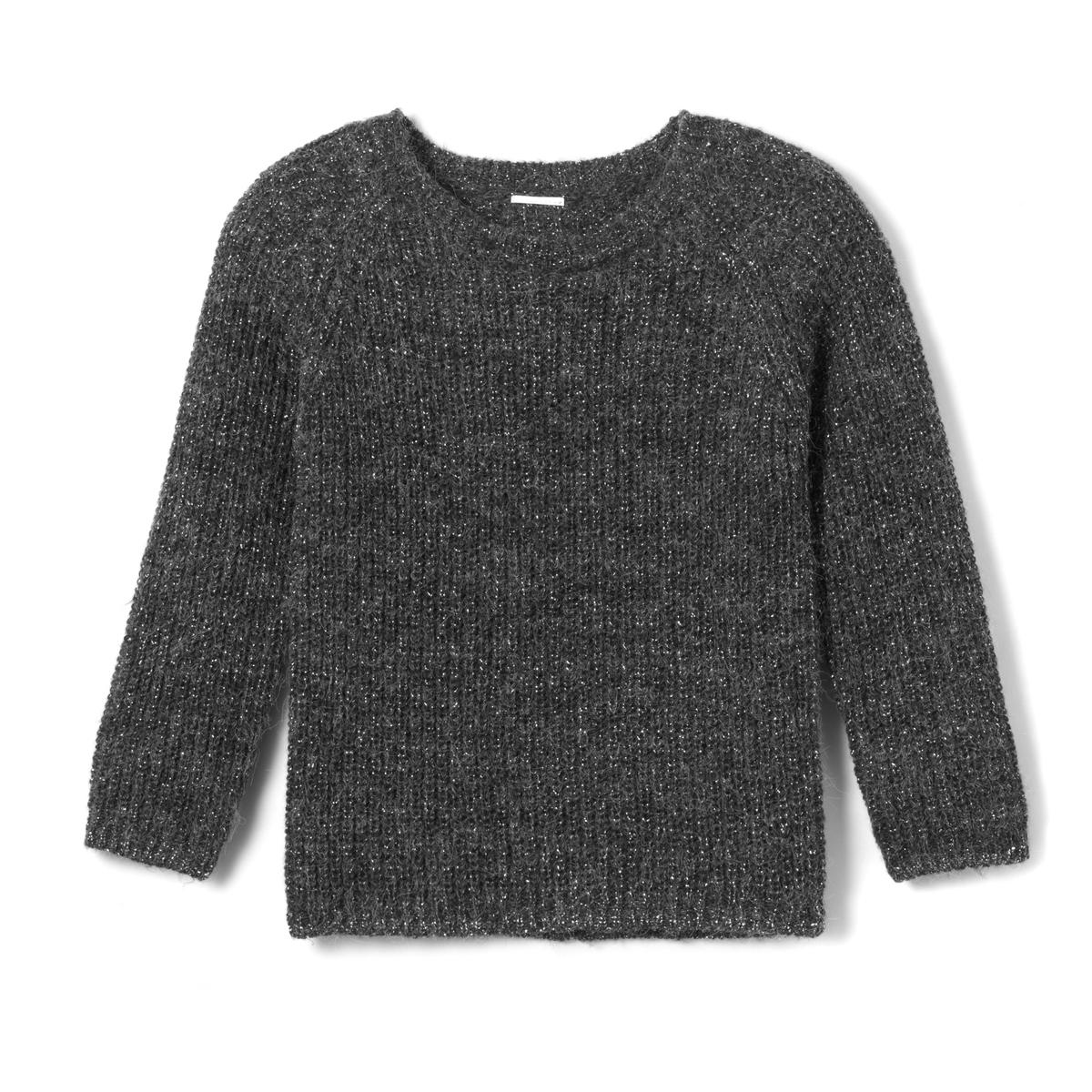 Пуловер из блестящего трикотажа, 3-12 лет