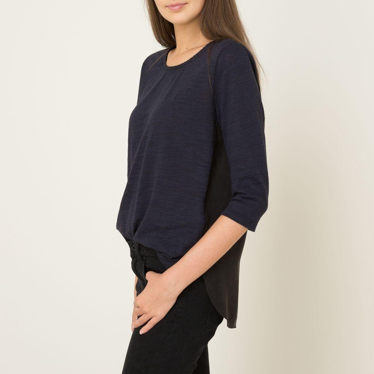 Debardeur Feminine Jersey Top with Woven 100220-B