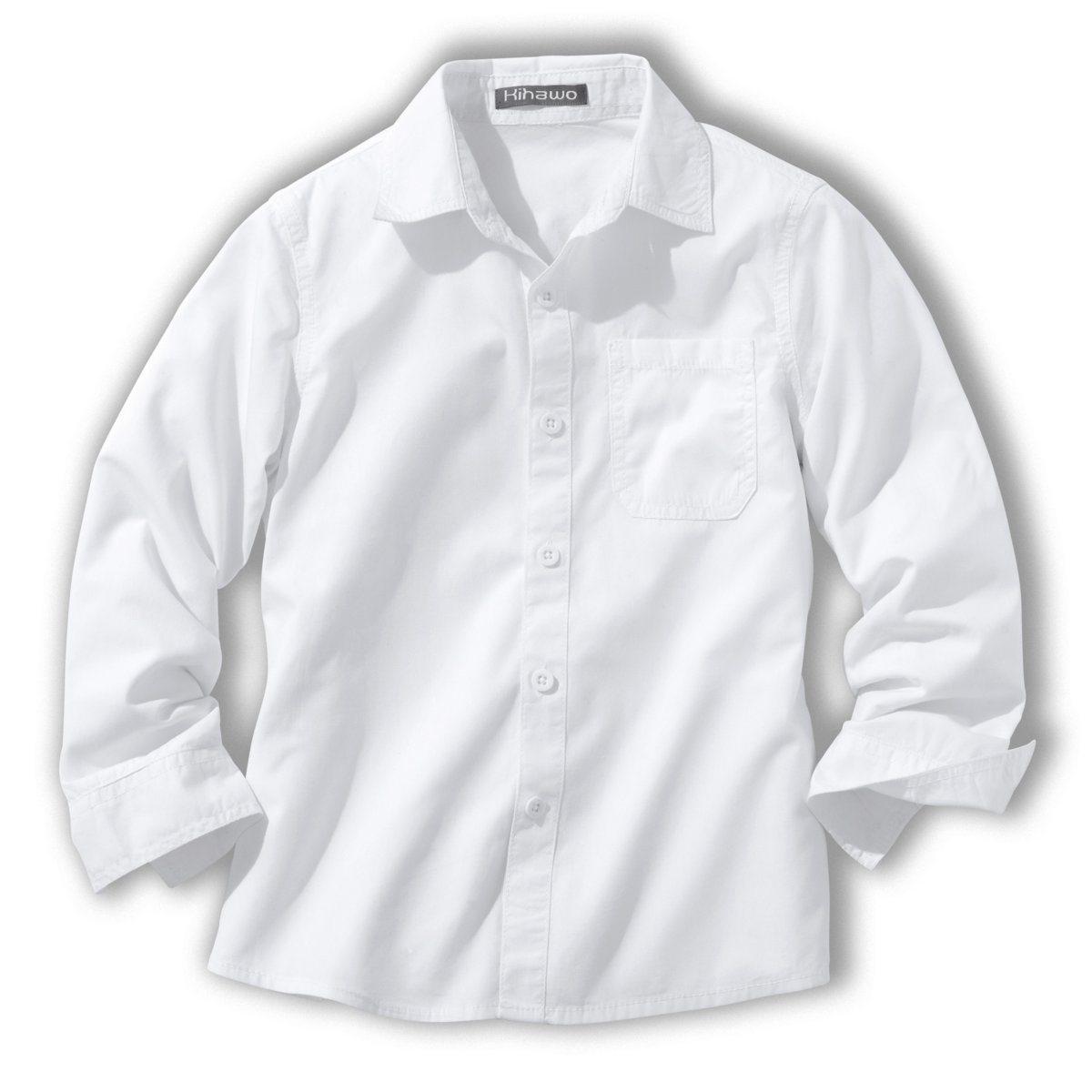 Рубашка однотонная, 3-12 лет от La Redoute