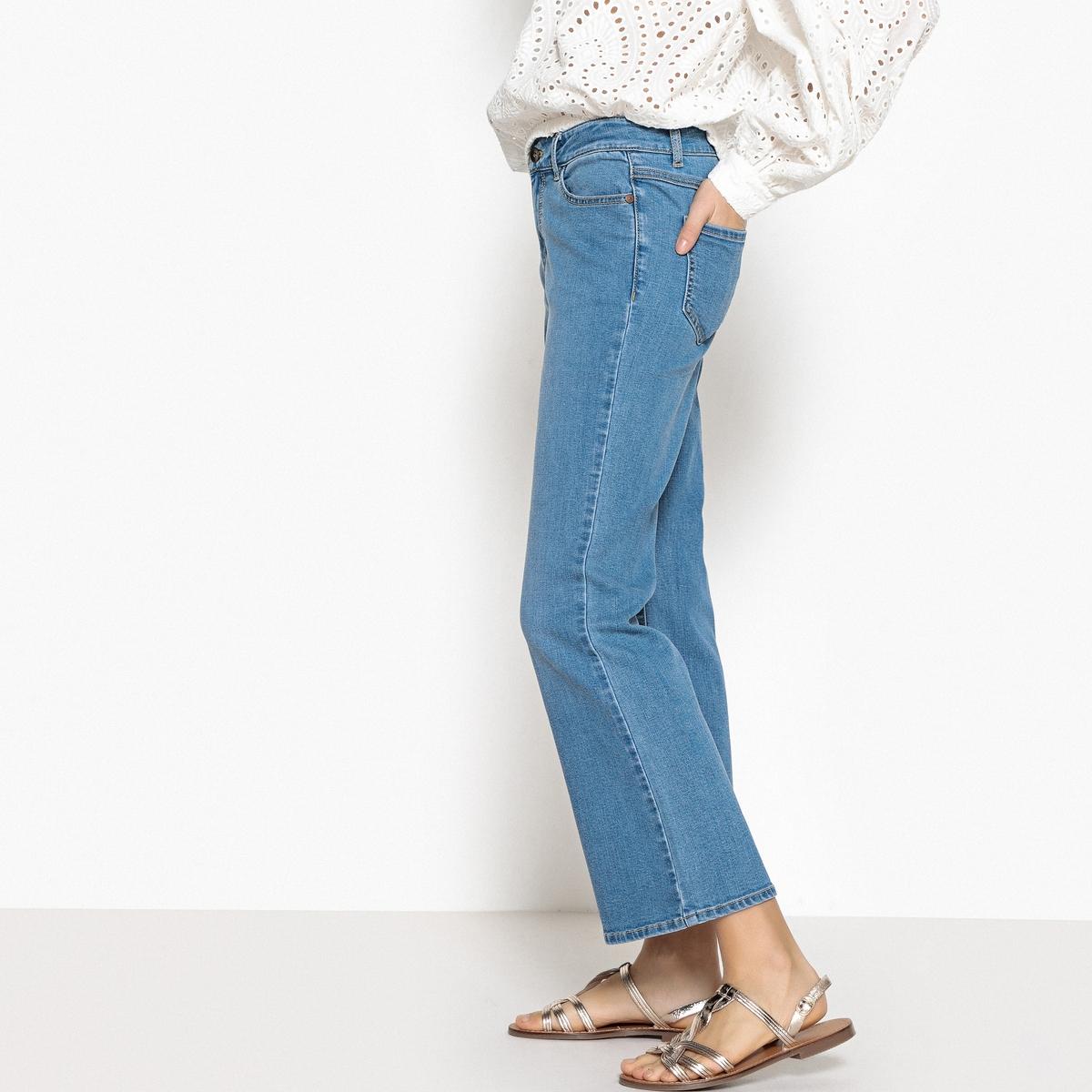 Джинсы расклешенные, стандартная талия джинсы расклешенные длина 34