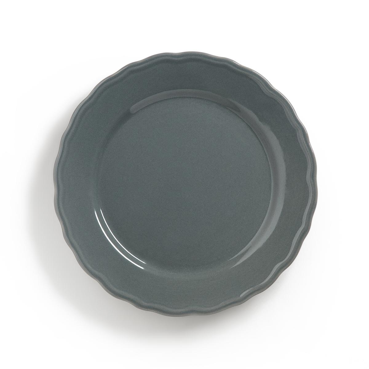 Комплект из 4 тарелок, AJILAОписание:4 тарелки десертные с отделкой фестонами Ajila . Завтрак, обед или ужин, La Redoute Int?rieurs Вас приглашает к столу.Характеристики 4 тарелок десертных с отделкой фестонами Ajila : •  Из фаянса, зубчатая кромка •  Диаметр 21,7 см •  Подходит для мытья в посудомоечной машине и использования в микроволновой печиПлоские и глубокие тарелки, чашки, кружки и блюдца Ajila продаются на нашем сайте.ru<br><br>Цвет: белый,темно-серый