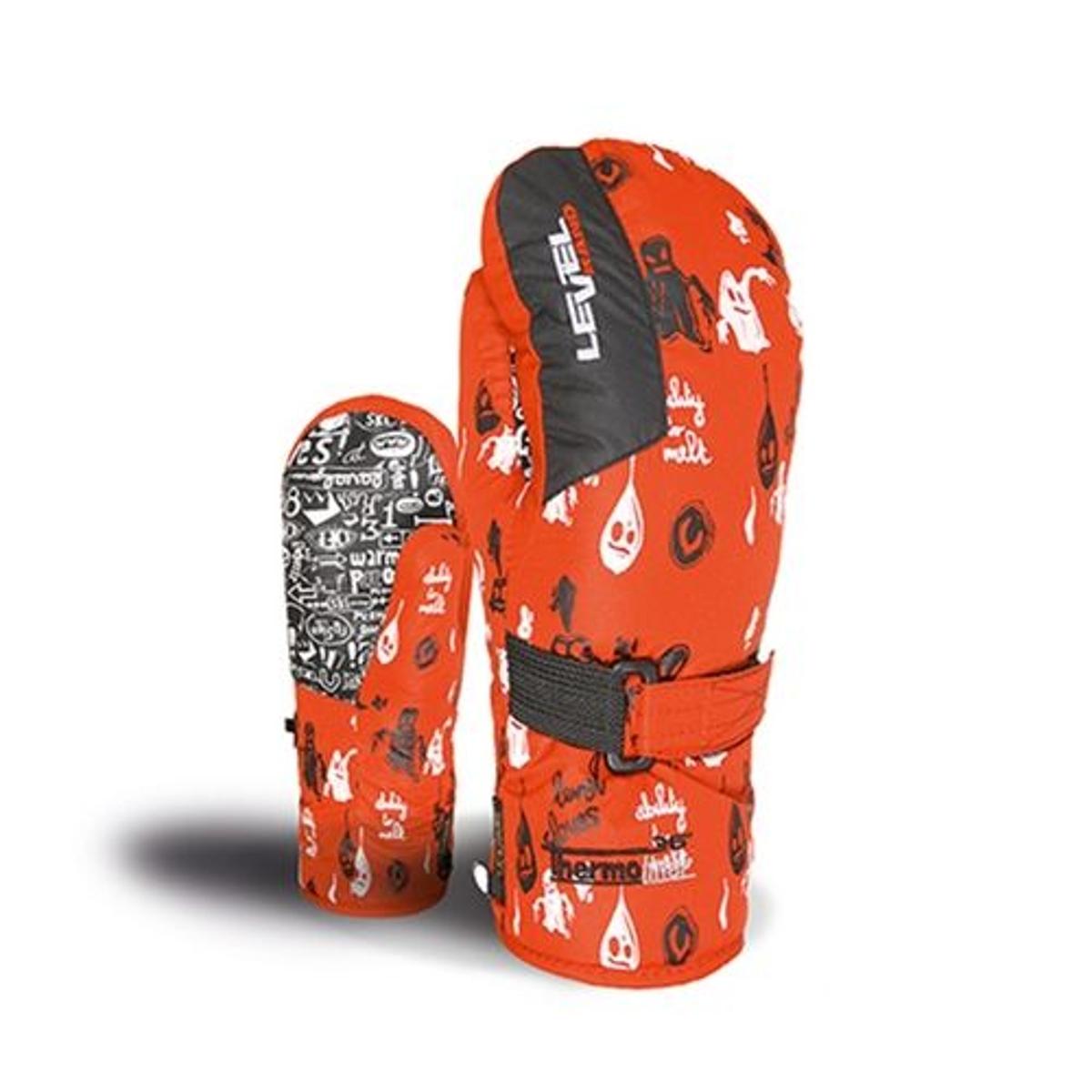 Junior Moufle Ski Enfant - {cap}-rouge