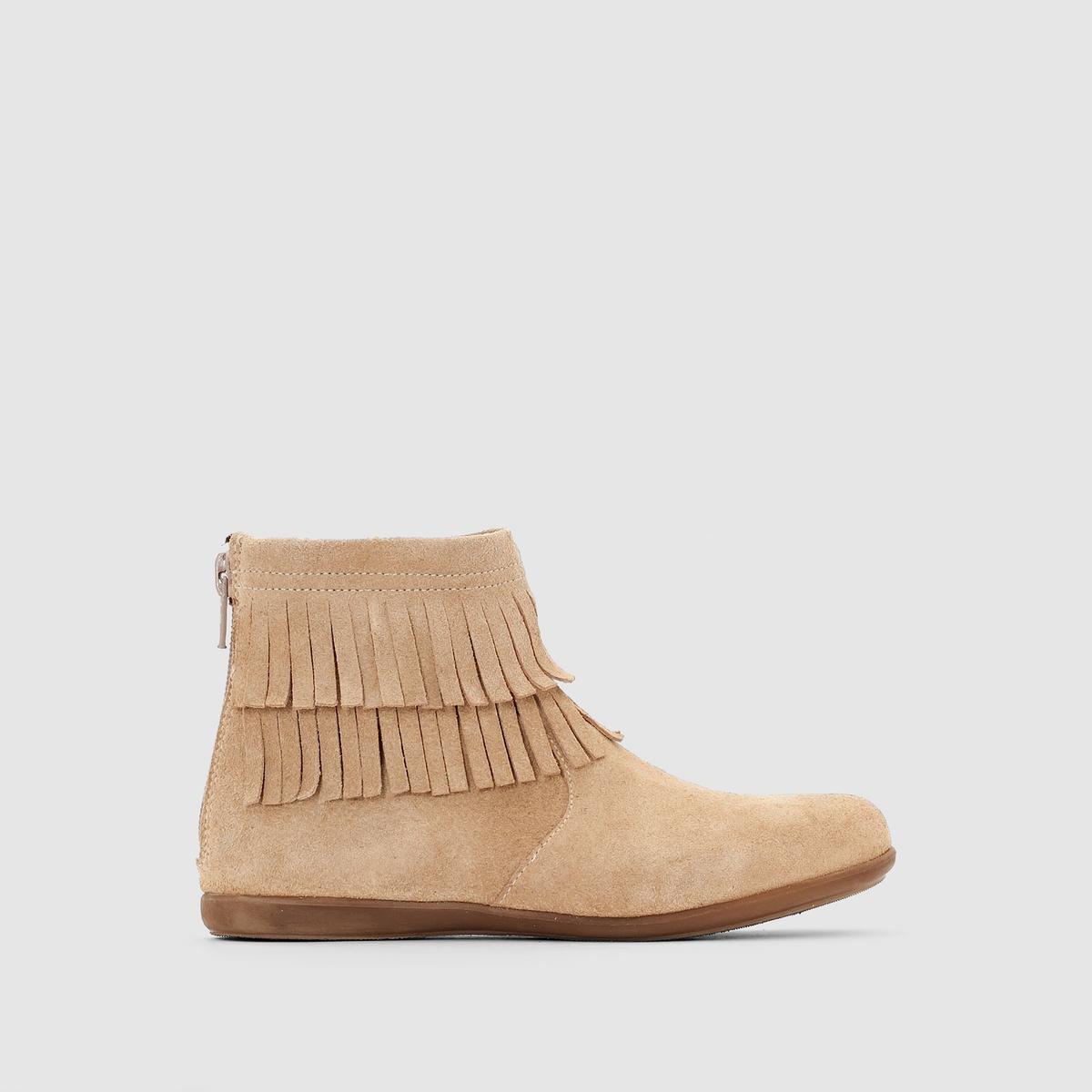 Ботинки из спилка