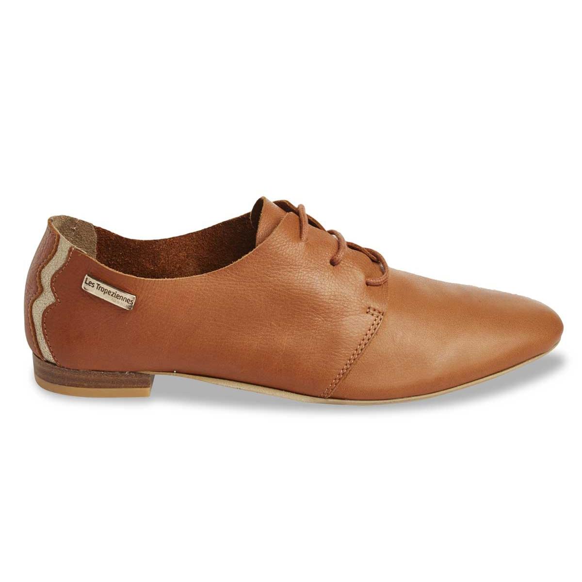 Ботинки-дерби из мягкой кожи TakarikaВерх/Голенище: кожа.   Стелька: кожа.  Подошва: синтетика.Форма каблука: плоский каблук.  Мысок: закругленный.Застежка: шнуровка.<br><br>Цвет: каштановый<br>Размер: 36