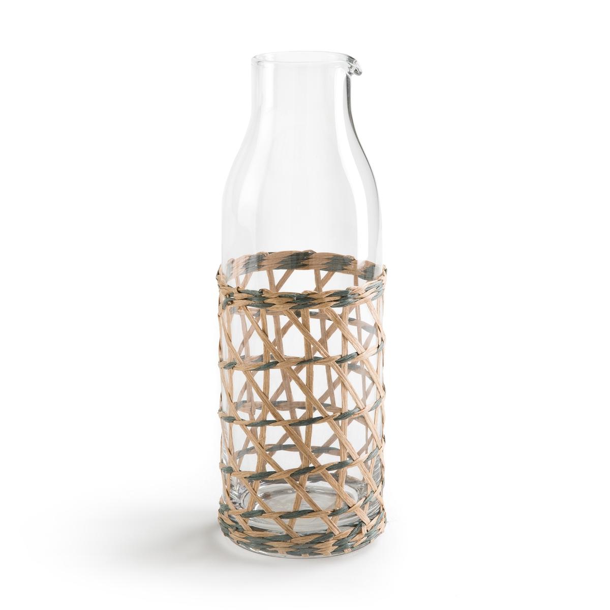 Графин для воды из стекла и дерева QUALIMNAОписание:Стеклянный графин для воды La Redoute Interieurs с плетеным обрамлением.Характеристики графина: •  В форме бутылки •  Натуральное плетениеРазмеры графина: •  Размер : 5,2 x 7,8 x 24,5 смВсю коллекцию столового декора вы найдете на сайте laredoute.<br><br>Цвет: прозрачный