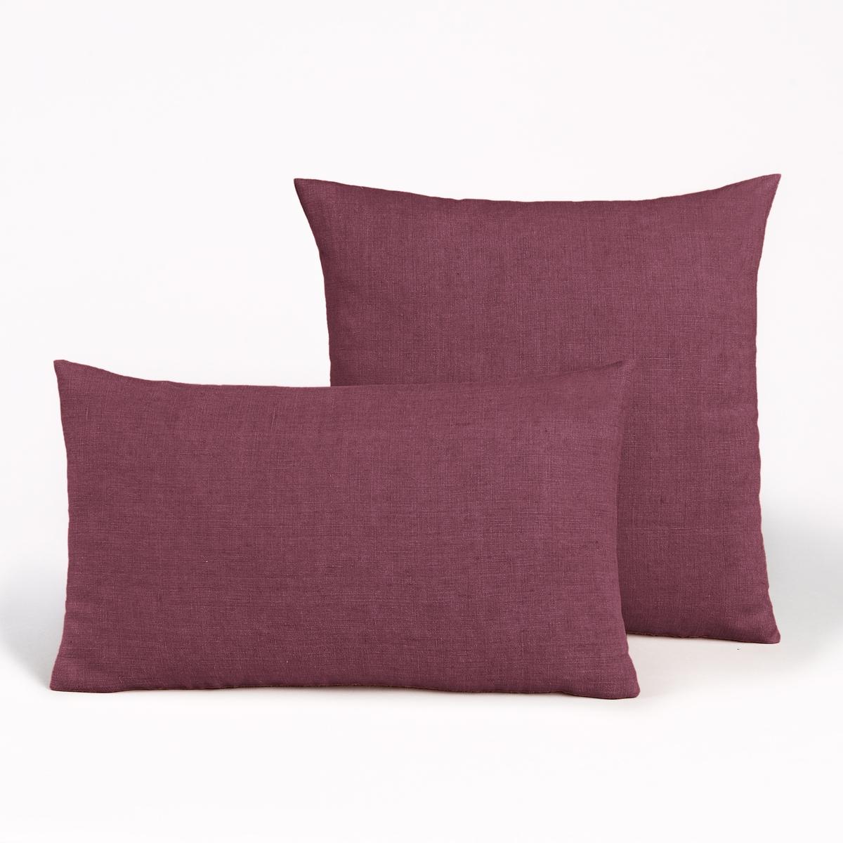 Льняной чехол для подушки, GeorgetteМатериал : - 100% льнаРазмер : - 50 x 30см : прямоугольная форма- 45 x 45 см : квадратная наволочка<br><br>Цвет: розовый телесный,темно-синий,цвет неокрашенного льна,ягодный