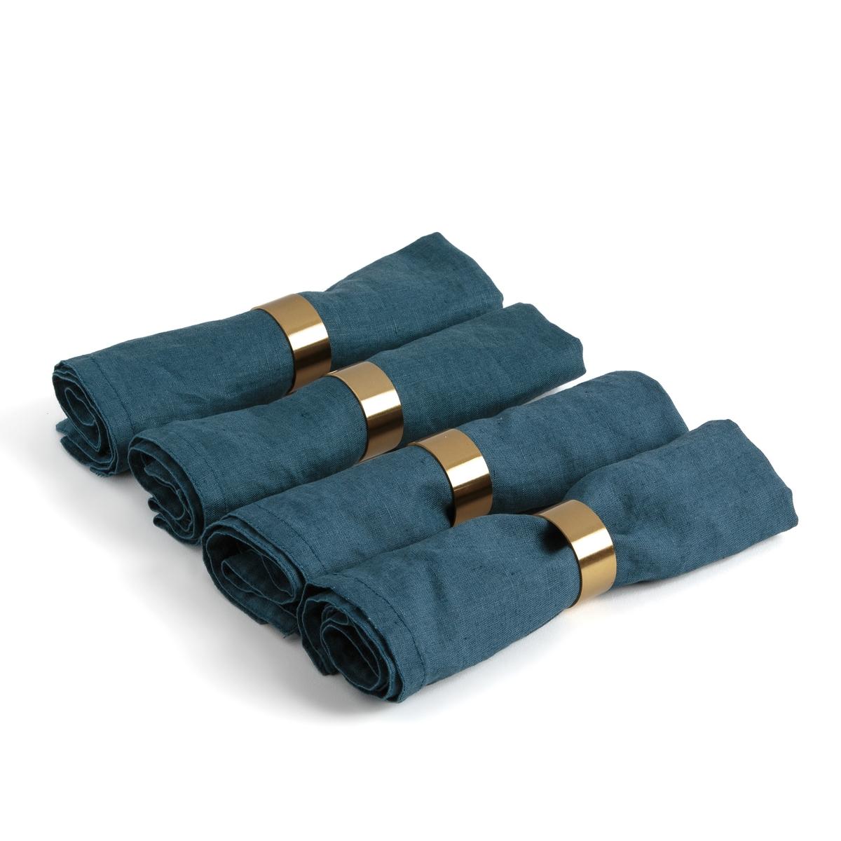 Комплект из 4 колец золотого цвета для салфеток , DAJAN