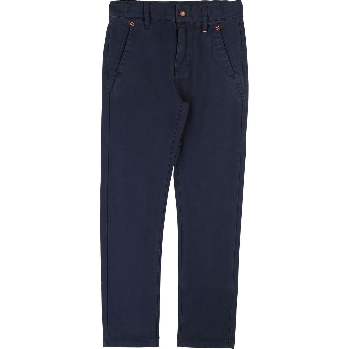 Pantalon chino uni 4 poches