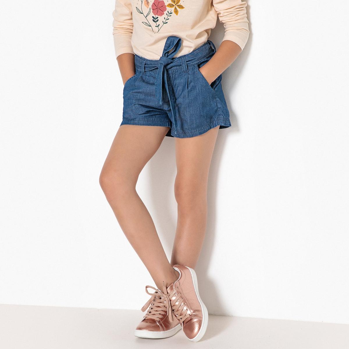 Шорты из тонкого денима, 3-12 лет блуза armani collezioni блуза