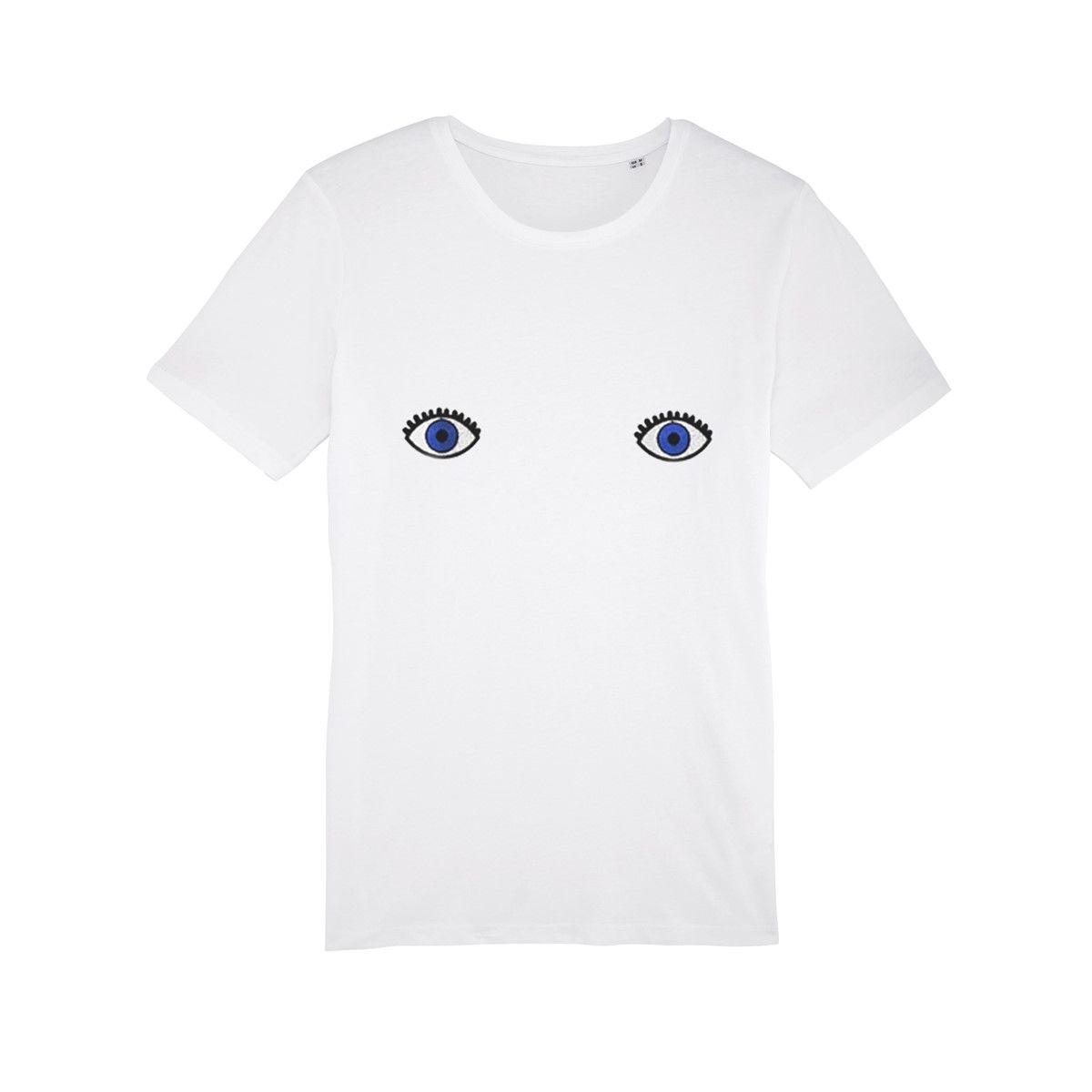 T-shirt femme en coton bio Yeux