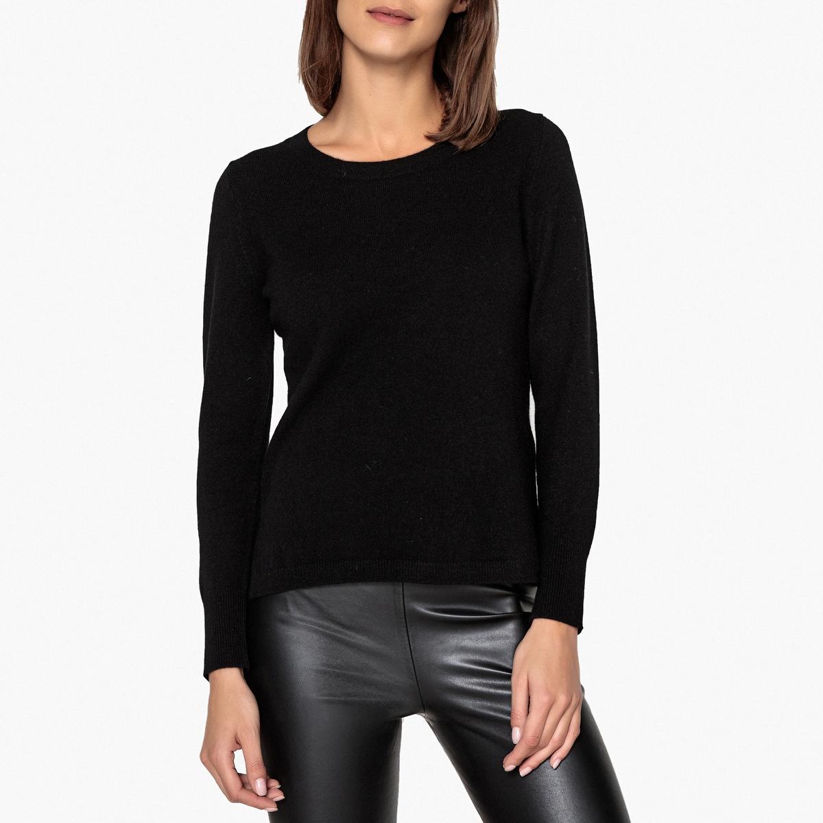 Пуловер из кашемира с круглым вырезом женский пуловер brand new 2015