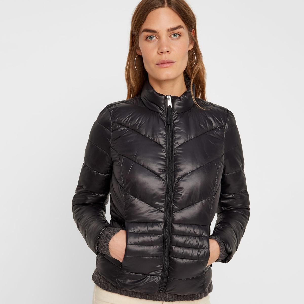 Куртка La Redoute Короткая с воротником-стойкой XS черный