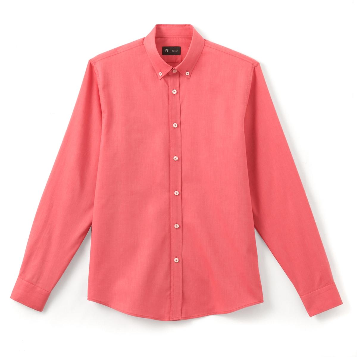 Рубашка Oxford прямого покроя 100% хлопокРубашка с длинными рукавами Oxford. Прямой покрой, классический воротник, края воротника с пуговицами. Низ рукавов с застежкой на пуговицы. Состав и описание :Материал  100% хлопкаМарка  R ?ditionДлина 76 смУход:Машинная стирка при 30 °C в деликатном режимеСтирать с вещами подобного цвета с изнанки   Отбеливание запрещеноГладить при умеренной температуреГладить с изнаночной стороныСухая (химическая) чистка запрещенаМашинная сушка запрещена<br><br>Цвет: розовый<br>Размер: 45/46.41/42.39/40