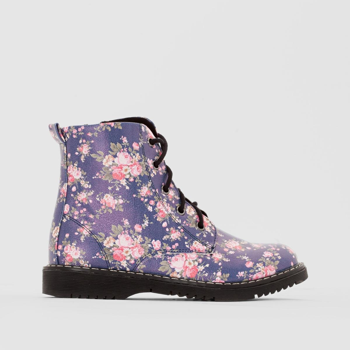 Ботинки с цветочным рисунком