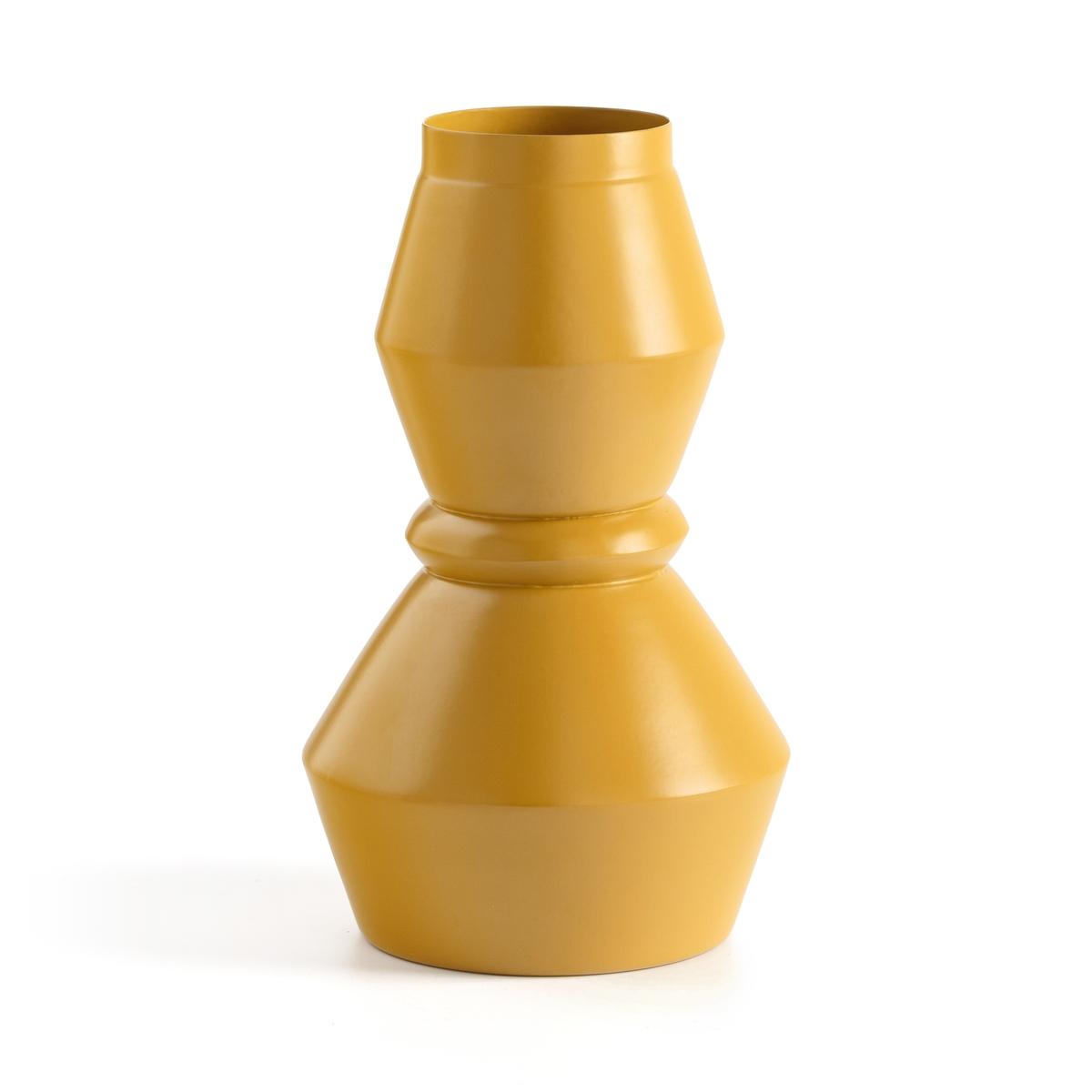 Ваза La Redoute Металлическая Anaa единый размер желтый
