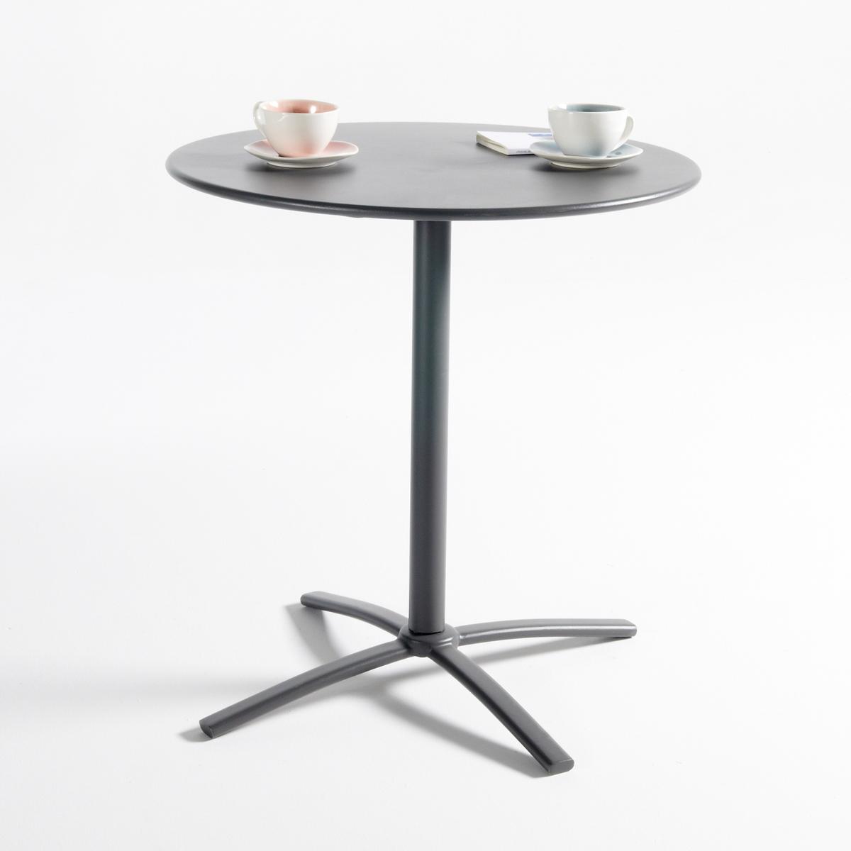 Металлический круглый столик на одной ножке для сада, HibaМеталлический круглый столик на одной ножке для сада Hiba. Полностью металлический круглый столик на одной ножке для сада можно использовать на террасе, балконе или в саду. Практичный столик, наклонная столешница обеспечивает легкое хранение вещей. Характеристики круглого столика на одной ножке Hiba :Металлическая ножка, покрытие эпоксидным лаком.Наклонная столешница для экономии пространства.Пластиковые вставки на ножках.Размеры круглого столика на одной ножке для сада Hiba  :ОбщиеДиаметр : 70 смВысота : 72 смРазмеры и вес упаковки :1 упаковка72 x 73 x Выс11 см 10,8 кгДоставка на дом :Столик доставляется в разобранном виде. Возможна доставка до квартиры по договоренности!Внимание ! Убедитесь, что дверные, лестничные и лифтовые проемы позволяют осуществить доставку коробки таких габаритов<br><br>Цвет: антрацит
