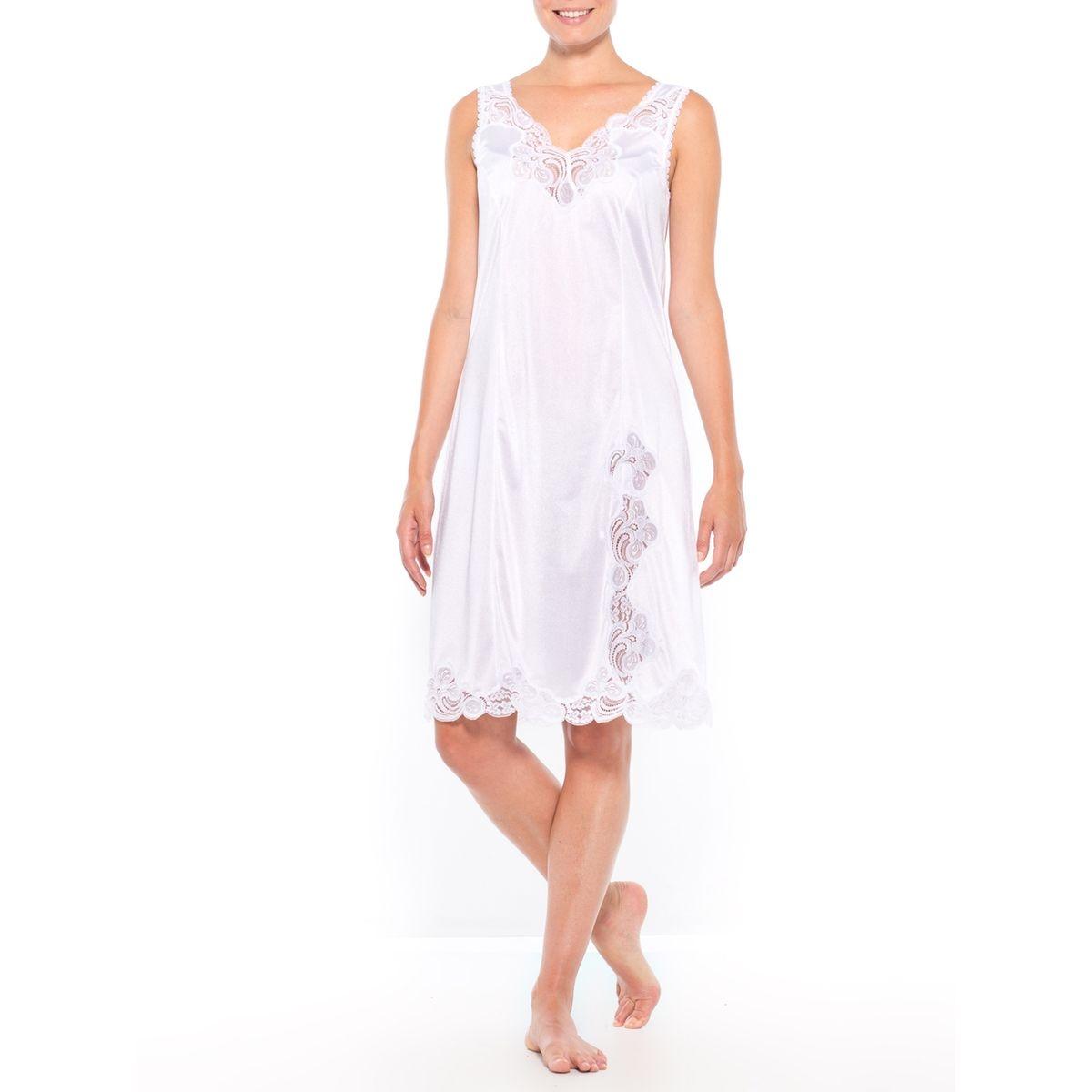 Fond de robe maille satinée, longueur 100cm