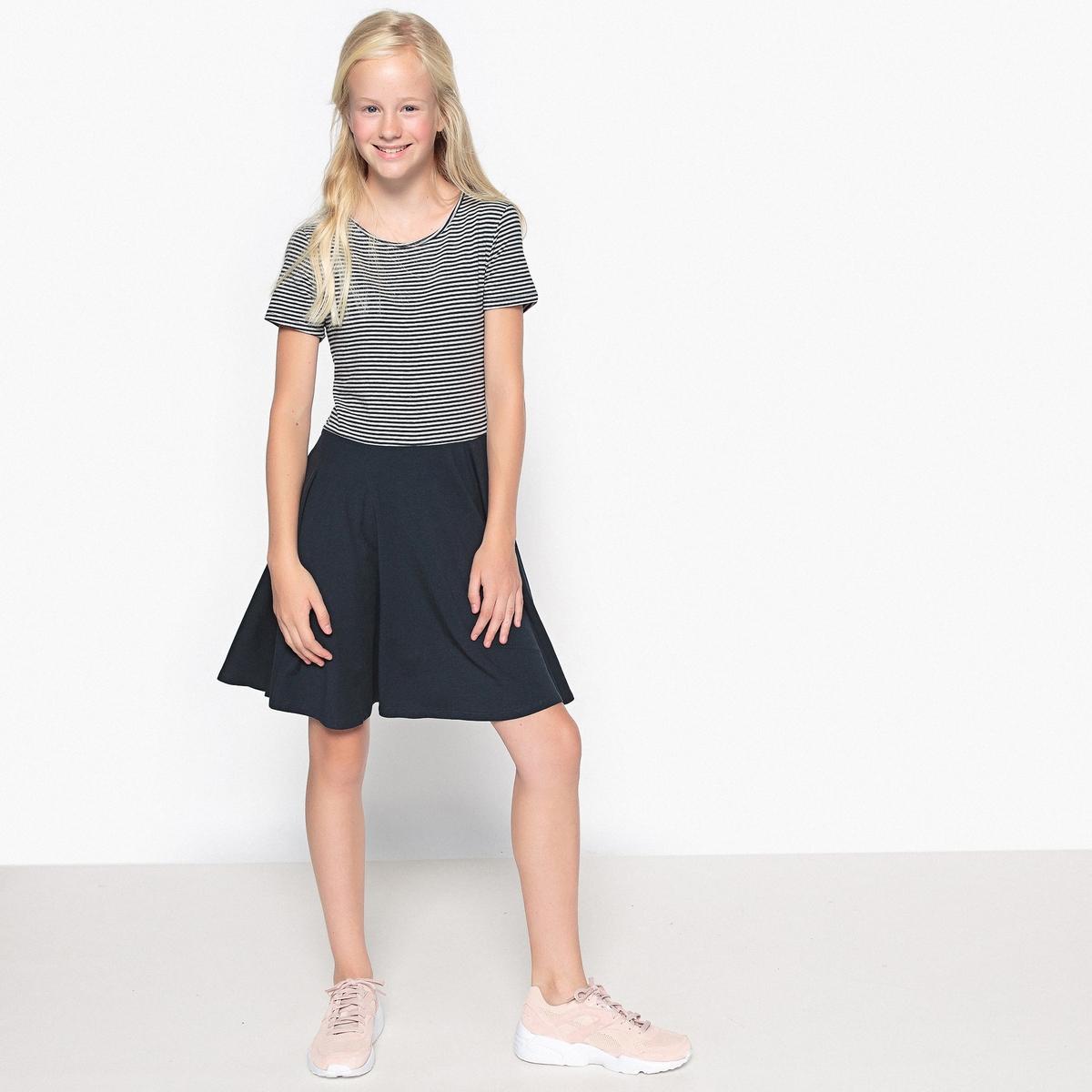 Платье с короткими рукавами в полоску 10-16 лет