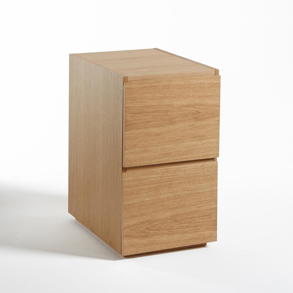 Фото - Тумба LaRedoute С 2 ящиками Working единый размер каштановый тумба laredoute для телевизора с раздвижными дверцами quilda единый размер каштановый