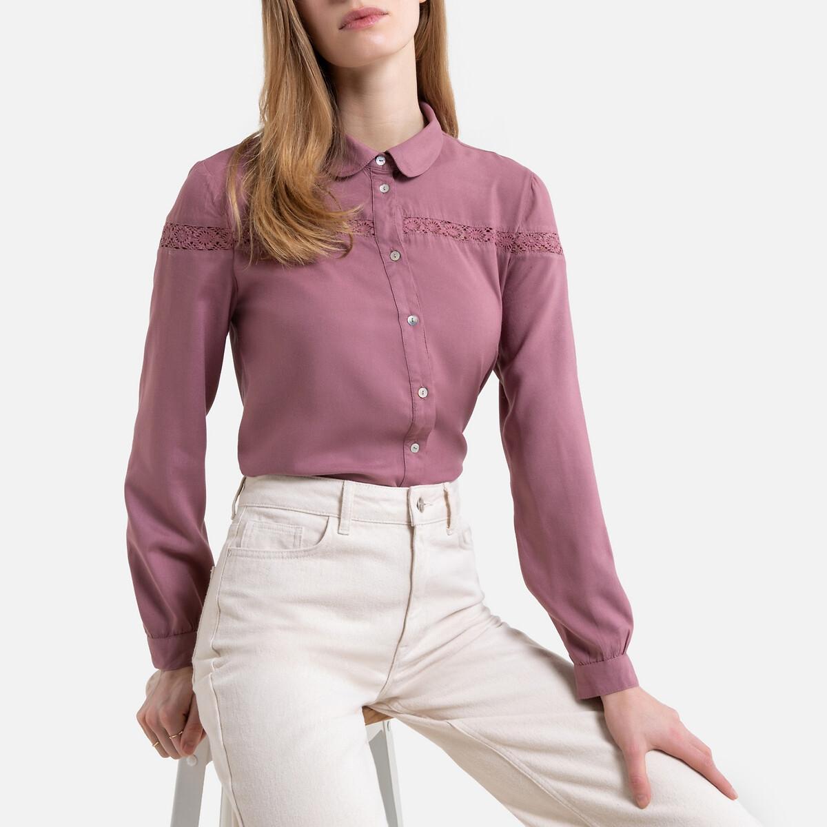 Рубашка La Redoute С отложным воротником и длинными рукавами 36 (FR) - 42 (RUS) другие пиджак с отложным воротником b young