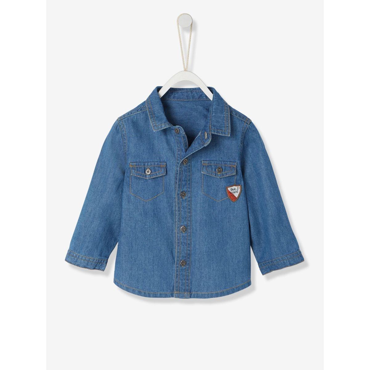 Chemise en jean bébé garçon