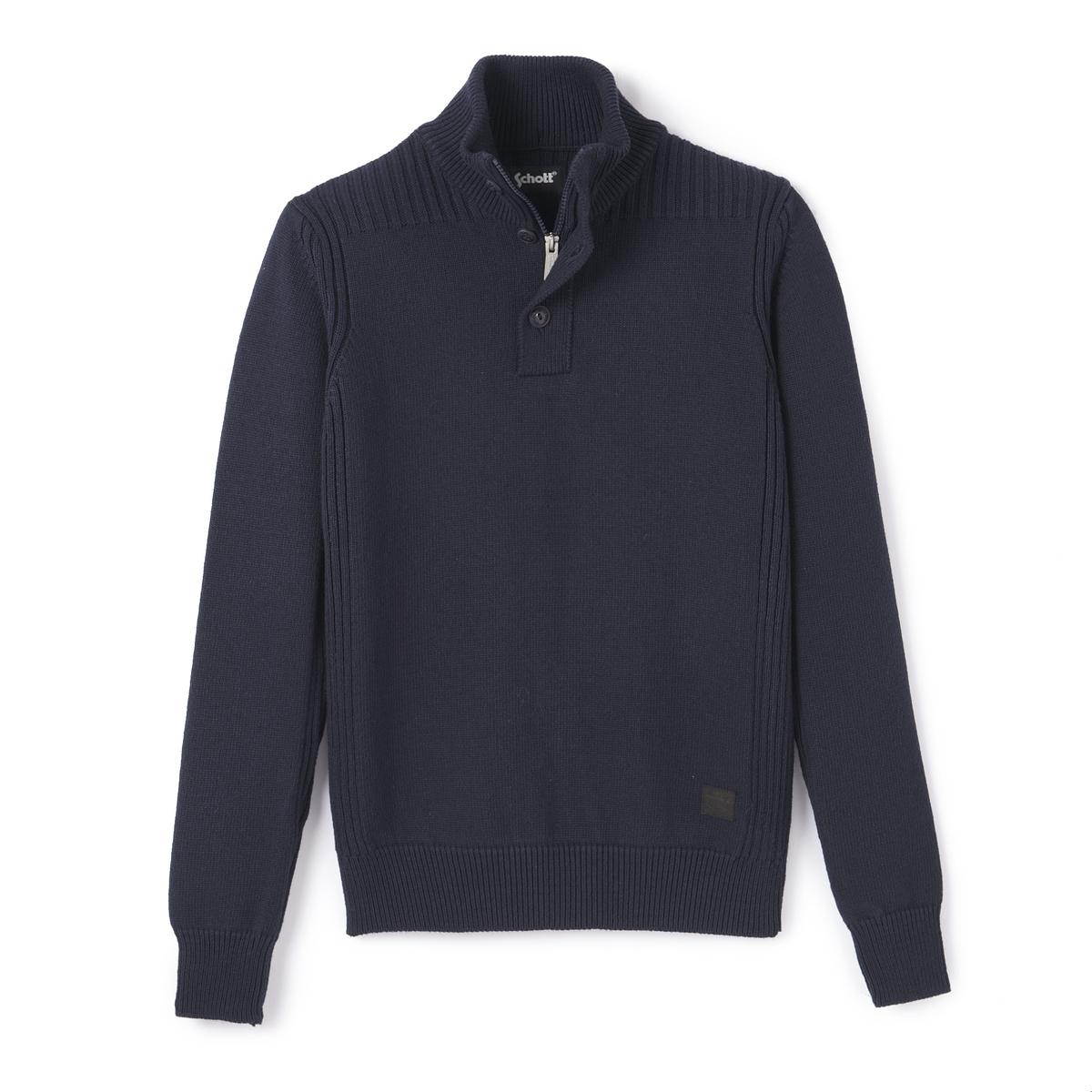 Пуловер крупной вязкиДетали  •  Длинные рукава  •  Воротник-стойка •  Плотный трикотаж Состав и уход  •  50% акрила, 50% хлопка •  Следуйте советам по уходу, указанным на этикетке<br><br>Цвет: серый меланж,синий морской,черный<br>Размер: XL.L