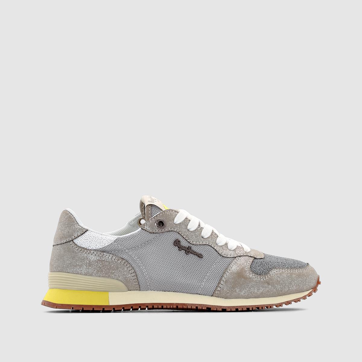 Кроссовки низкие PEPE JEANS GABLE CAVIARПреимущества: : Кроссовки PEPE JEANS, стильные и легкие, их можно надеть как на прогулку, так и на работу<br><br>Цвет: серебристый<br>Размер: 40