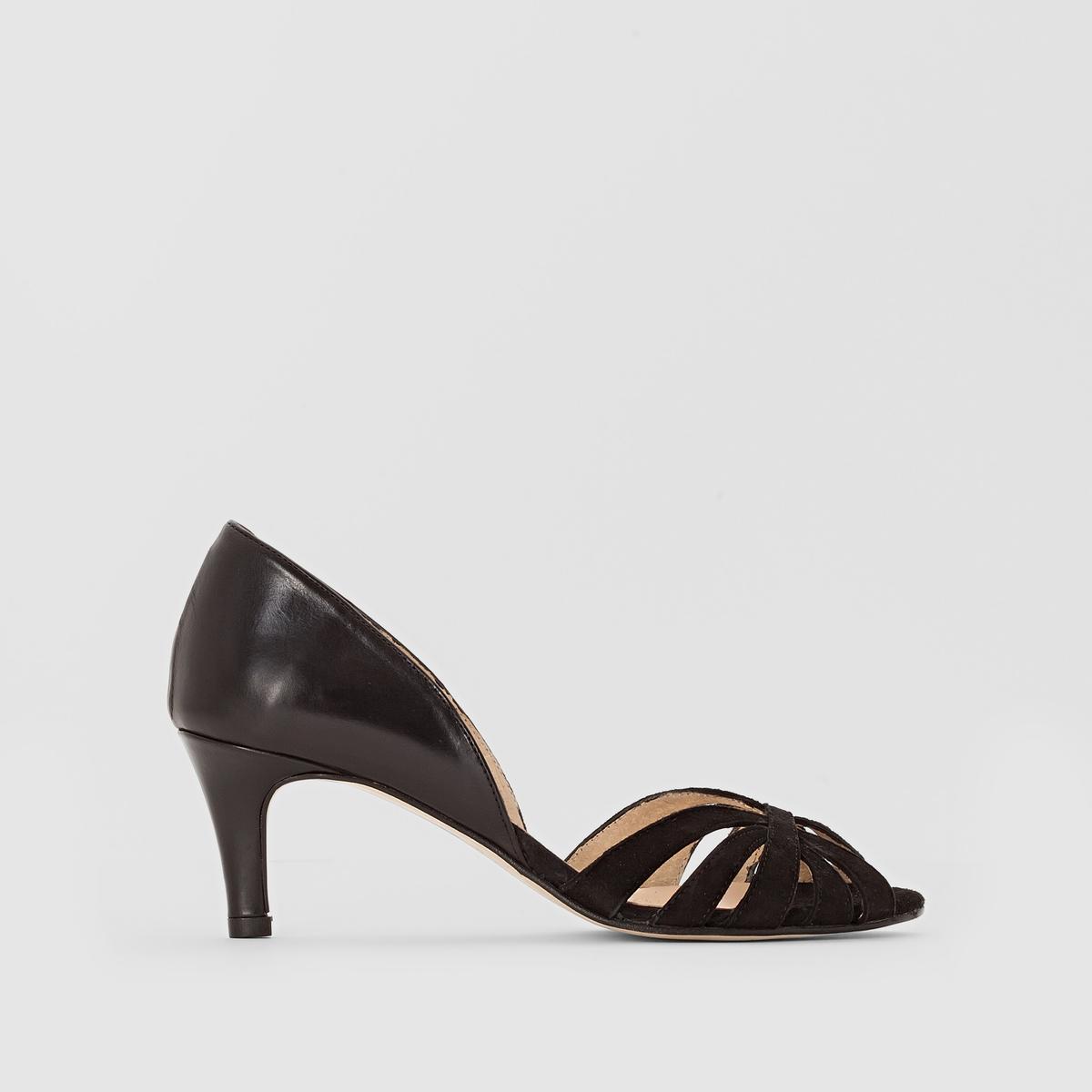 Туфли из двух материаловПреимущества  : мягкое и элегантное сочетание велюра и кожи, туфли JONAK станут обязательным аксессуаром любого наряда.<br><br>Цвет: черный