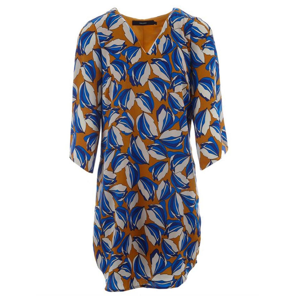 Платье прямое с рисунком, рукава 3/4 платье укороченное расклешённое с рисунком рукава 3 4