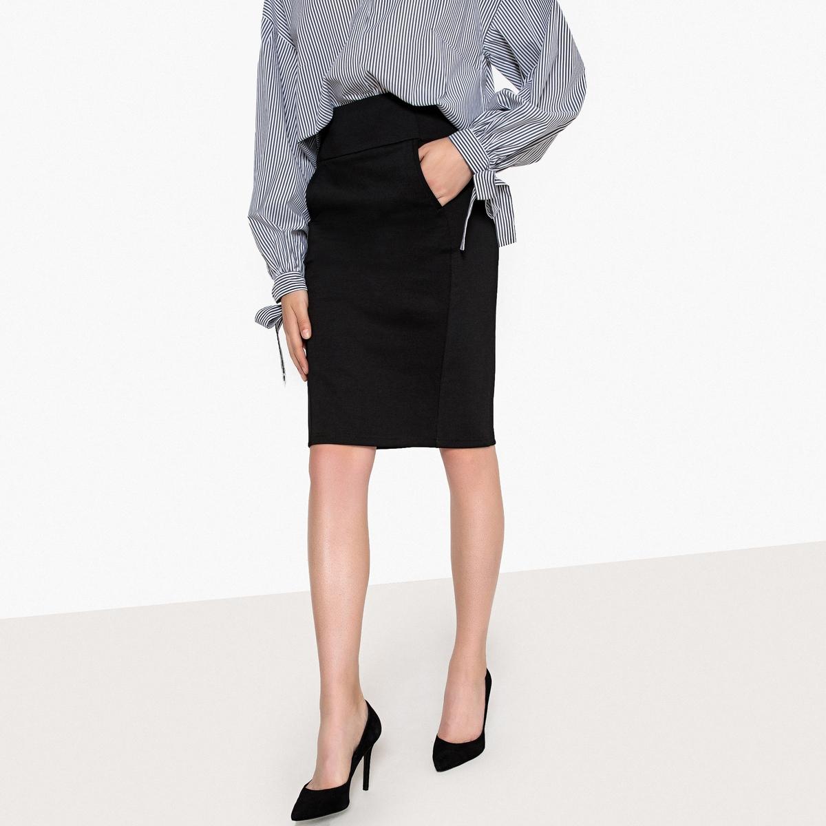 Юбка-карандаш из плотного трикотажа printio юбка карандаш укороченная