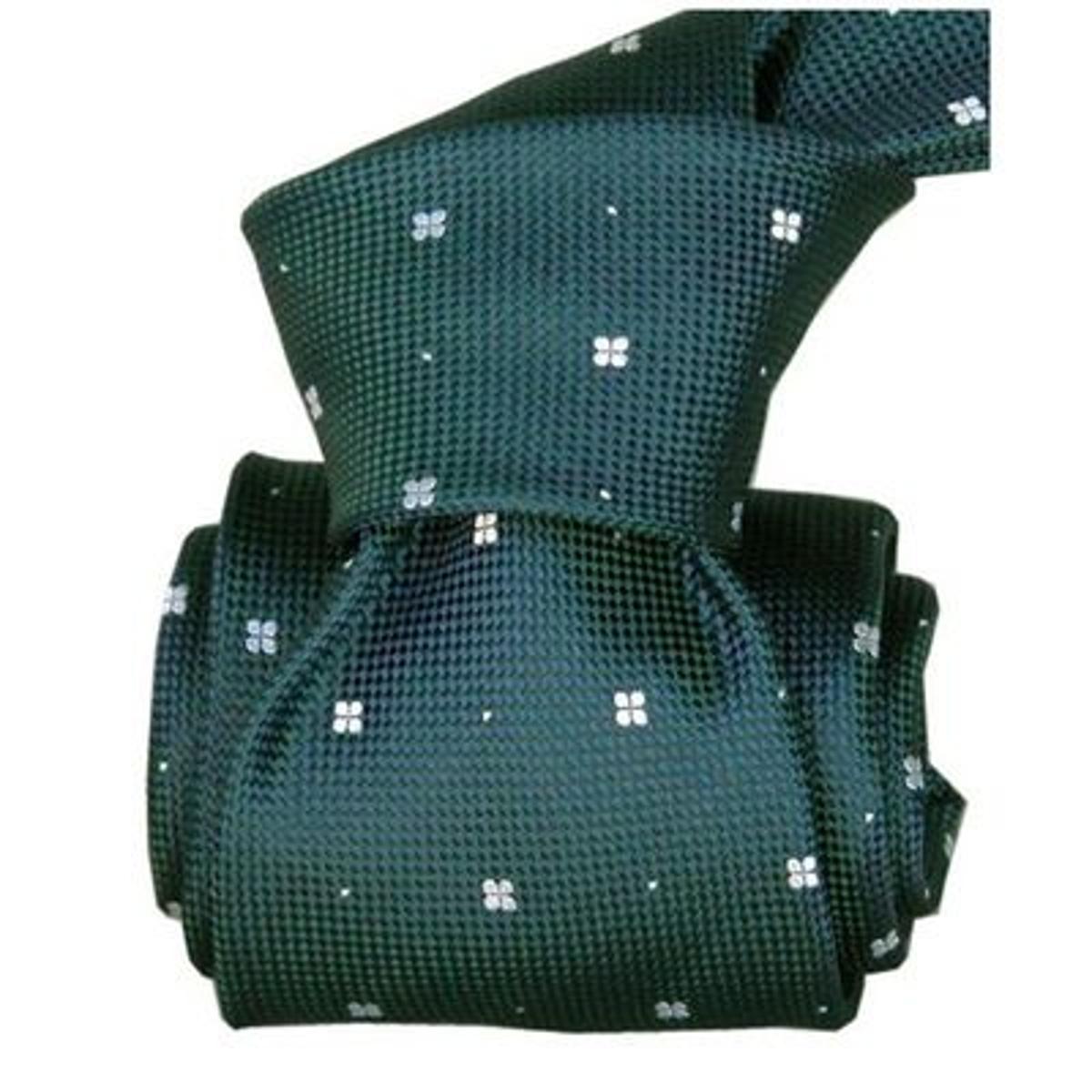 Cravate Segni Disegni LUXE, Faite main, Bolatte Bleu / vert