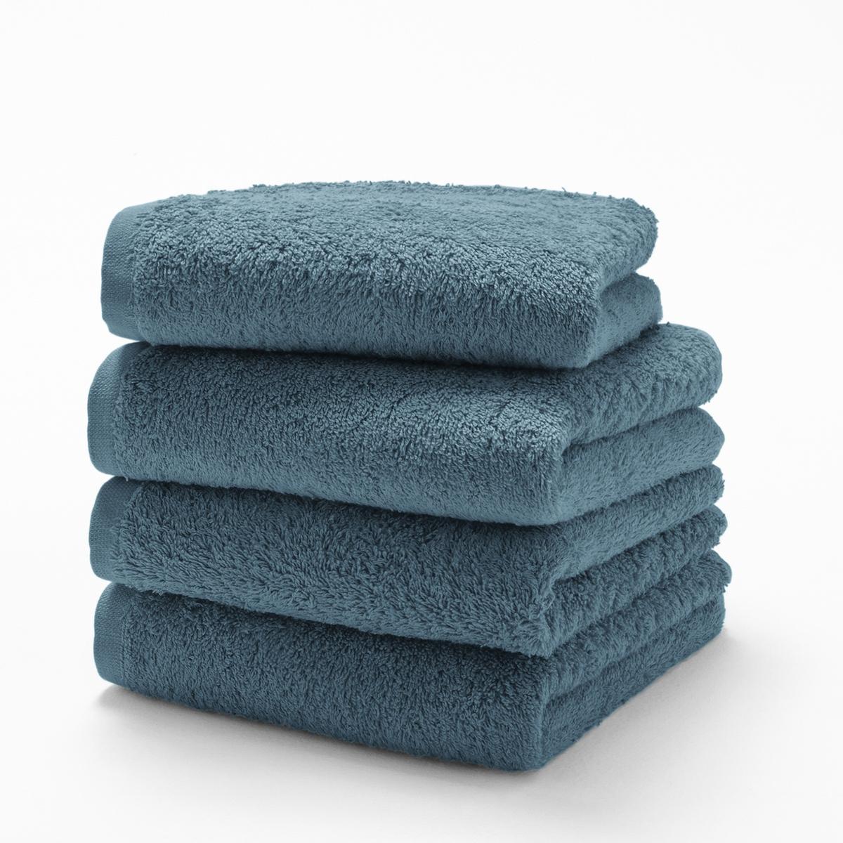Комплект из гостевых полотенец 500 LaRedoute Гм Scenario 40 x 40 см синий 5 однотонных laredoute банных принадлежностей из махровой ткани 500 гм scenario единый размер синий