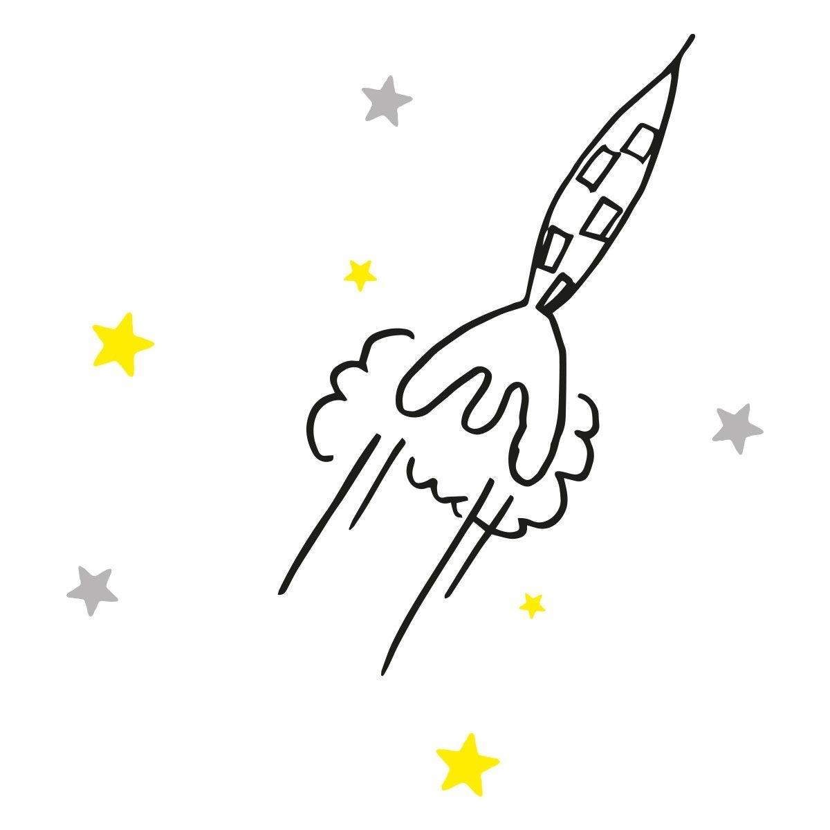 Stickers muraux fusée