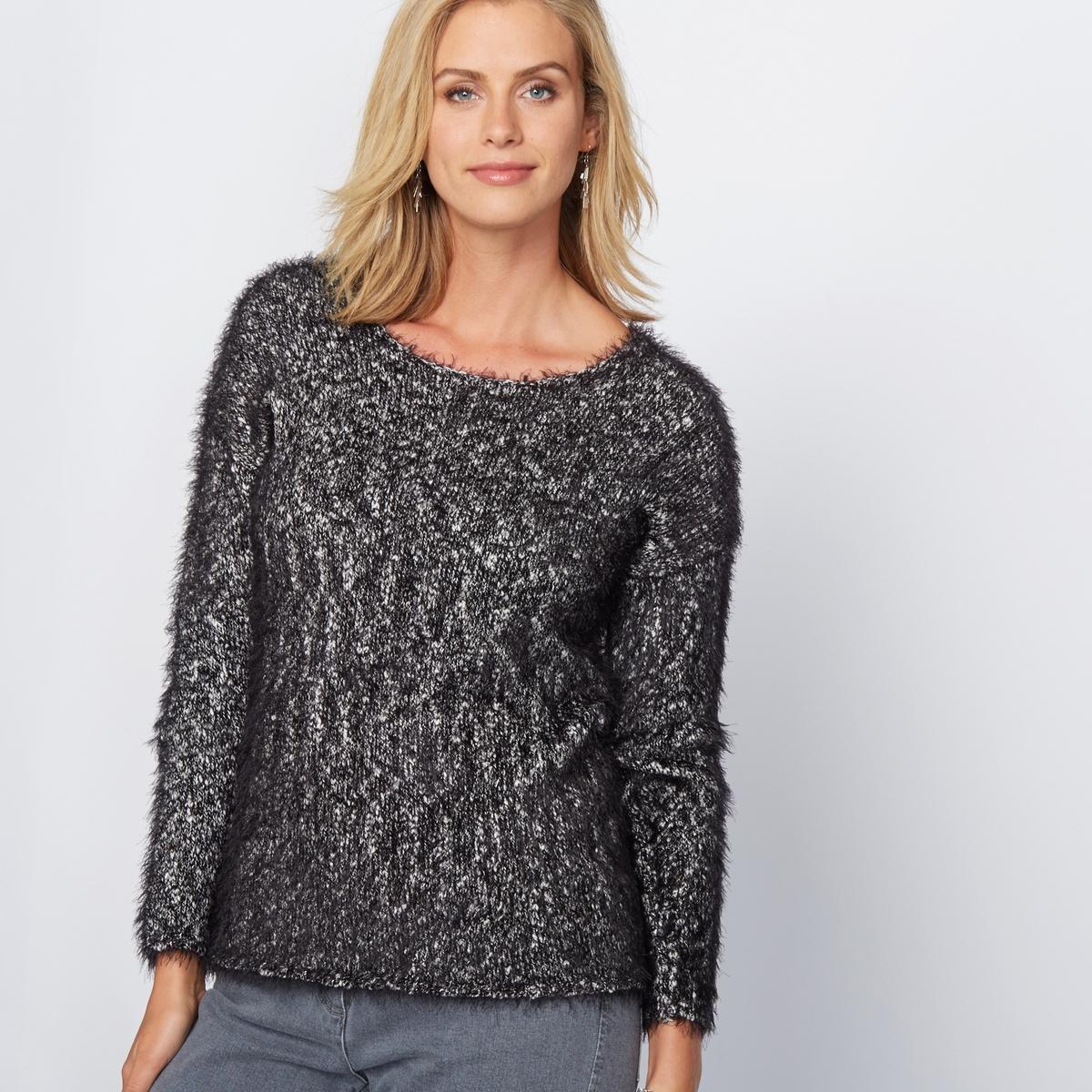Пуловер с ворсистым эффектом из оригинального трикотажа