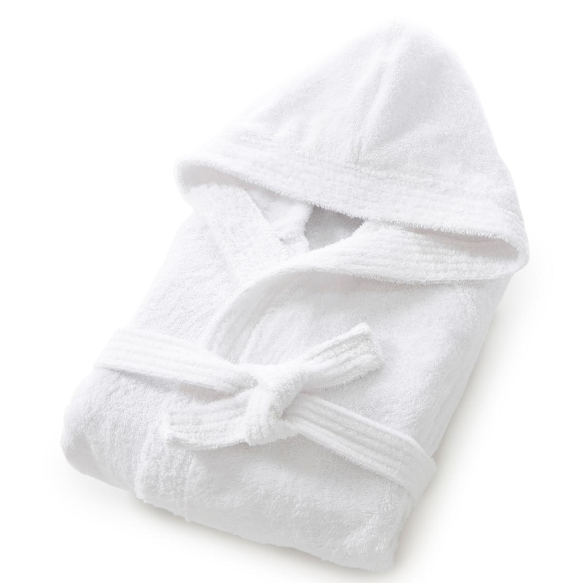 Халат с капюшоном, махровая ткань, 450 г/м?, качество BestХарактеристики халата с капюшоном из махровой ткани :Высококачественная махровая ткань, 100% хлопок, 450 г/м?.Капюшон, рукава реглан, 2 кармана с прострочкой, пояс со шлевками.Длина 110-113 см.Материал долго сохраняет мягкость и прочность. Превосходная стойкость цвета после стирки при 60 °C.Машинная сушка.<br><br>Цвет: белый,зелено-синий,розовая пудра,светло-синий,Серо-синий,синий морской,темно-серый,фиолетовый,шафран