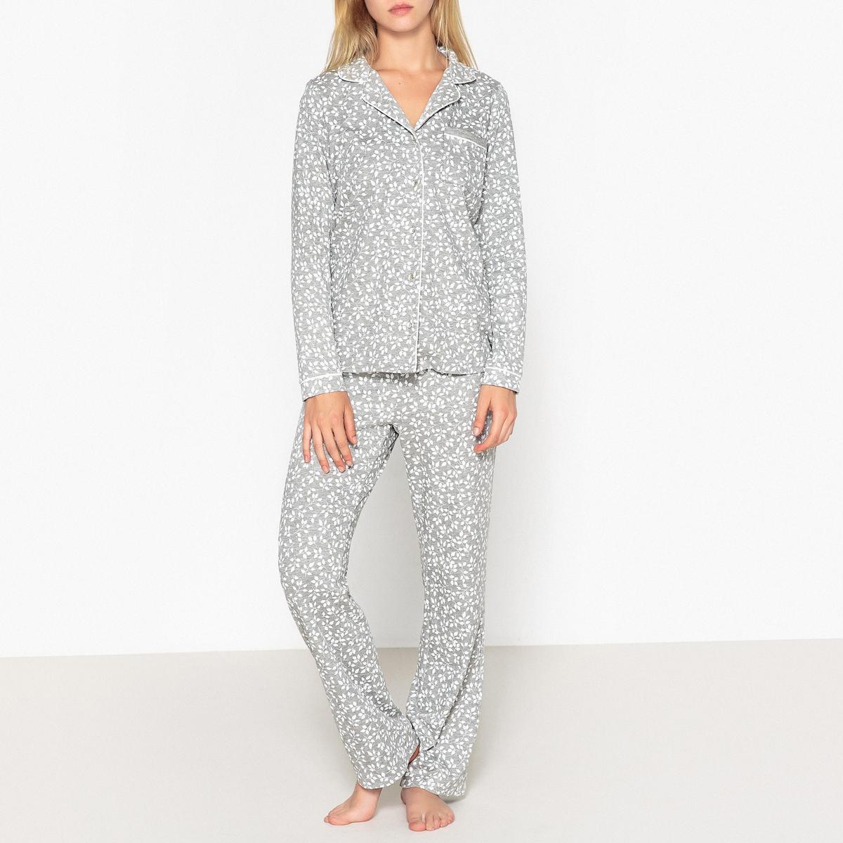 Пижама-рубашка с цветочным рисунком пижама с шортами с рисунком