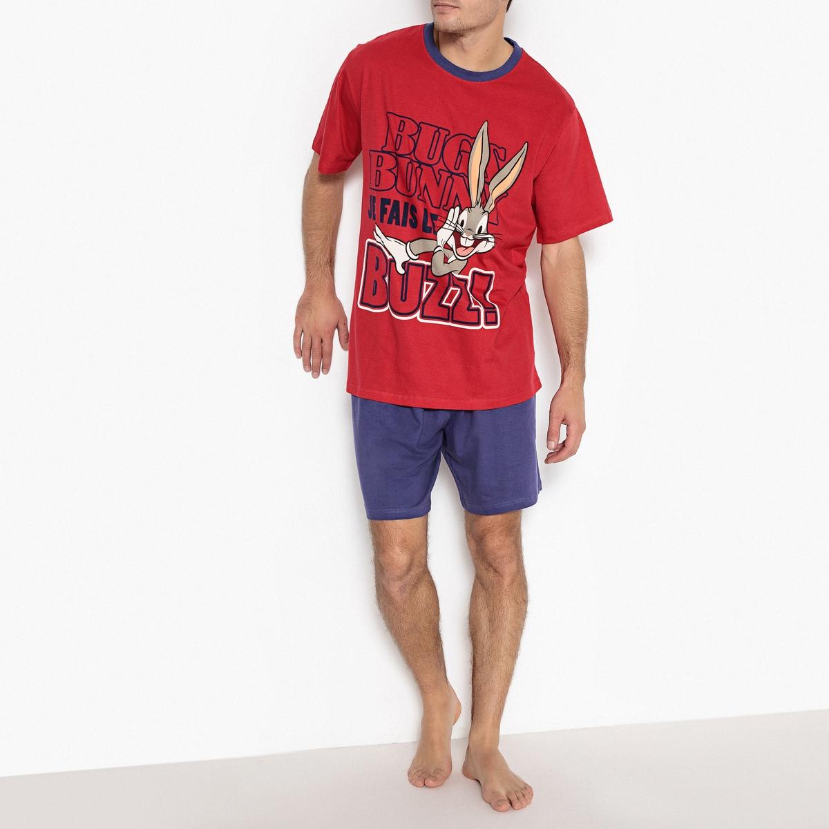 Пижама с шортами, короткие рукава и рисунок пижама с шортами nici
