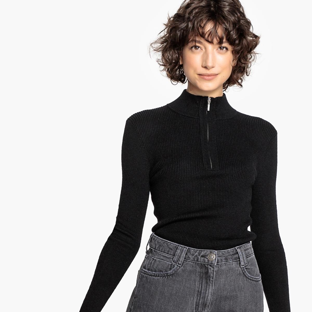Jersey con cuello alto de canalé