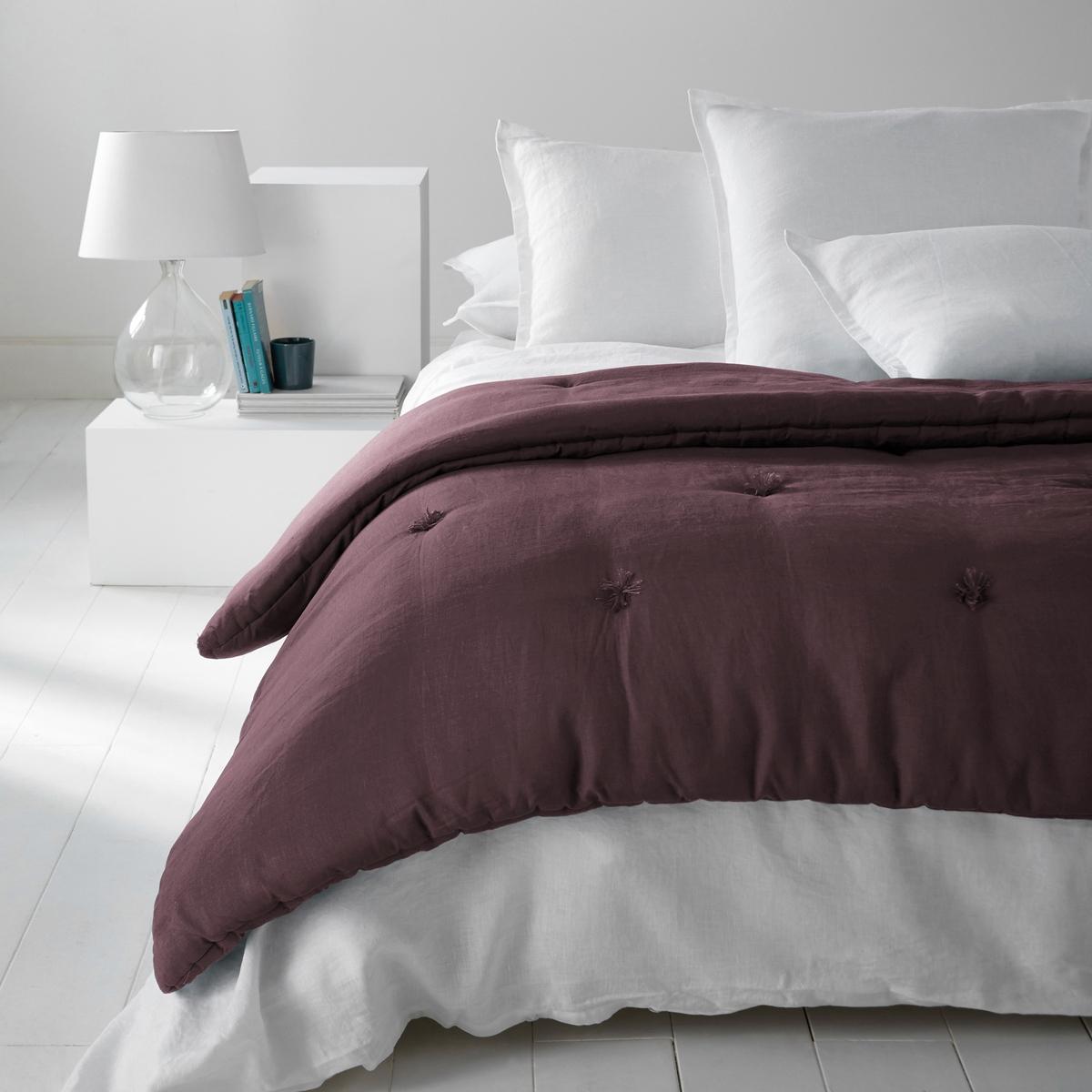 Одеяло из стиранного льна, AbellaХарактеристики одеяла изо льна, Abella :Верх из 100% льна.  Наполнитель из 100% полиэстера (400 г/м?)Стирка при 30°.100% лен : Натуральный, элегантный и аутентичный материал, с легким жатым эффектом. Мягкий струящийся материал - легкий летом и теплый зимой - становится еще мягче и красивее со временем.Другие наши изделия из льна ищите на сайте laredoute.ruРазмер на выбор :90 x 150 см90 x 190 см150 x 150 см<br><br>Цвет: бледный сине-зеленый,серо-бежевый,фиолетовый